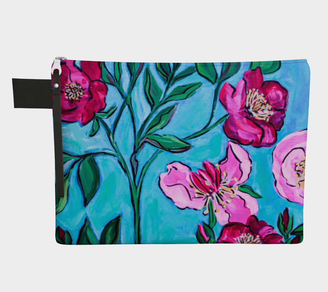 Roses and Peonies Zipper Carry All  preview