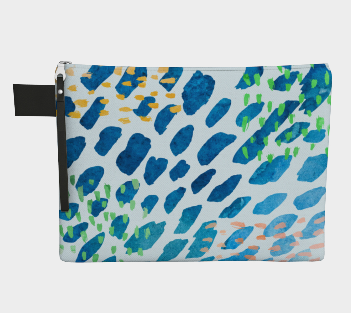 Under The Sea Watercolor Abstract Zipper Carry-All preview