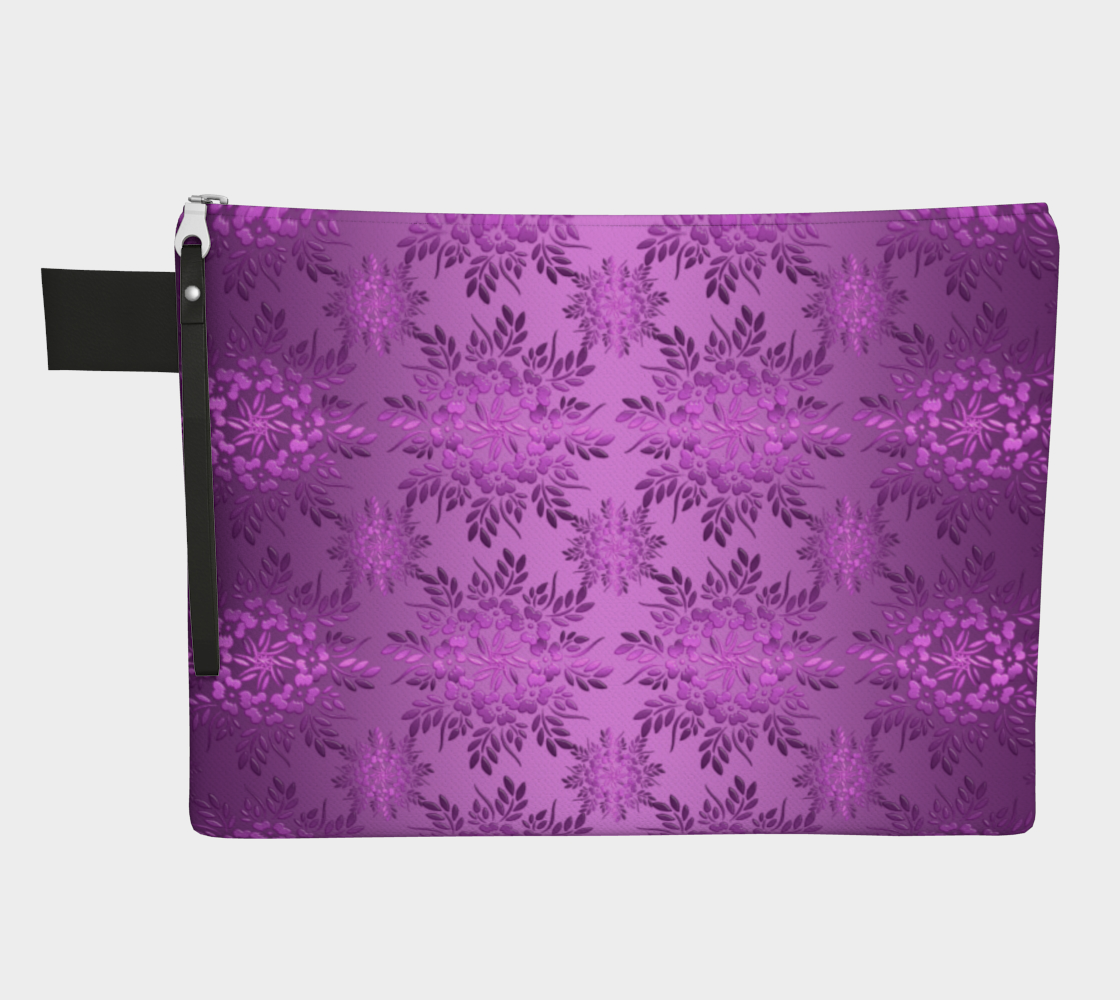Aperçu de Retro Floral Violet Gradient