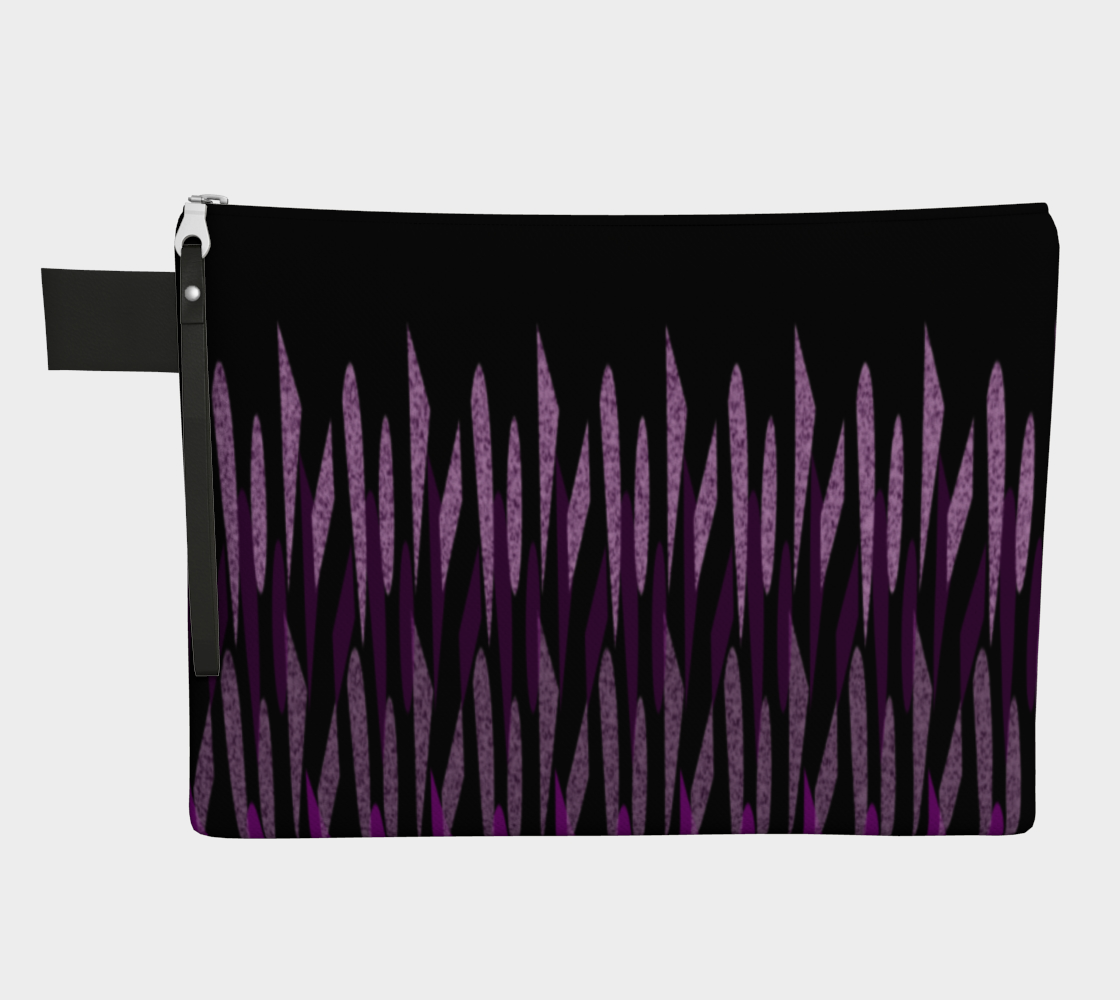 Purple Ice Abstract Zipper Carry-All preview
