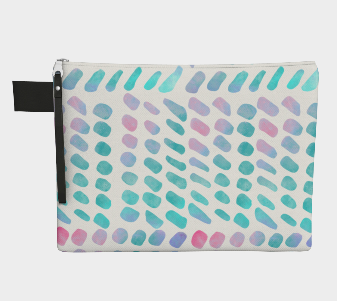Pink and Blue Cotton Candy Zipper Carry-All preview