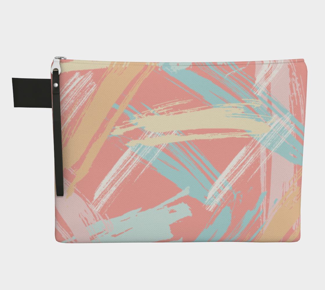 Pastel Abstract Brush Stroke Zipper Carry-All preview