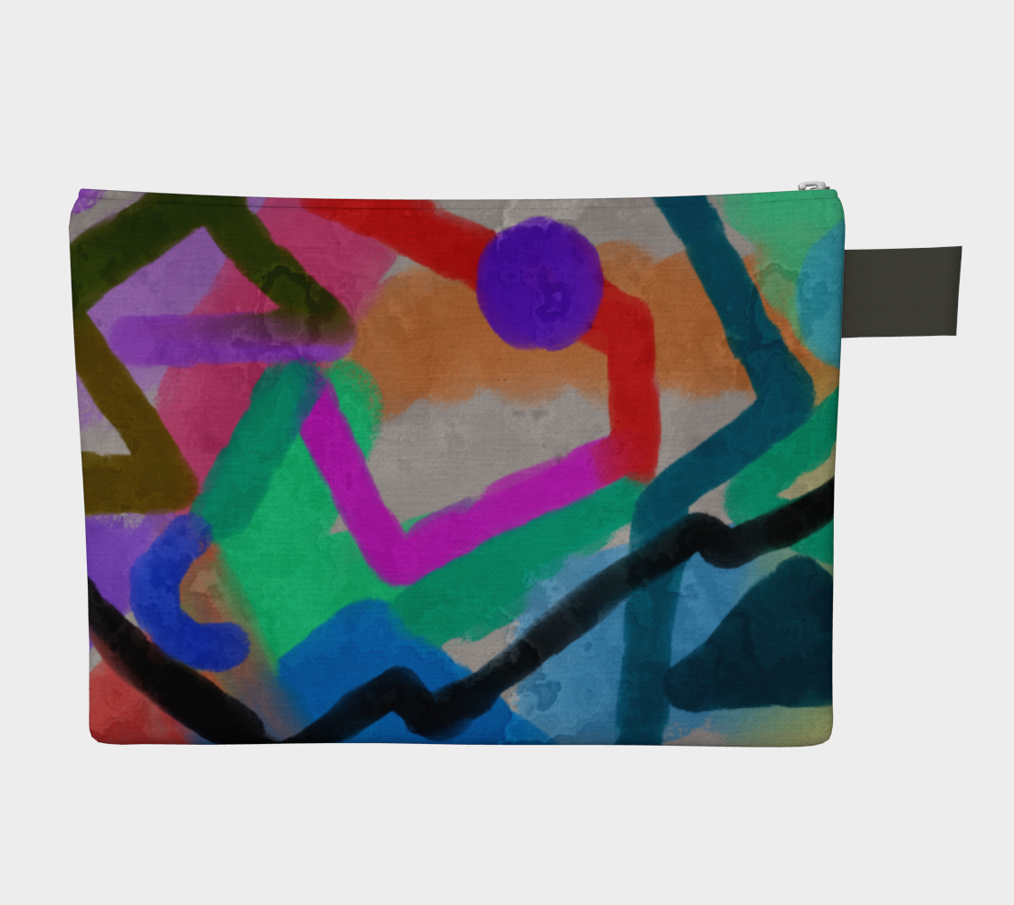 Colorful Abstract Art Clutch Bag Miniature #3