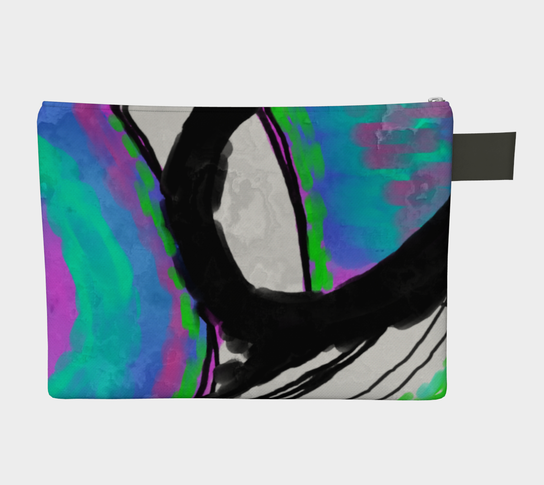 Aperçu de Colorful Abstract Art Clutch Bag #2