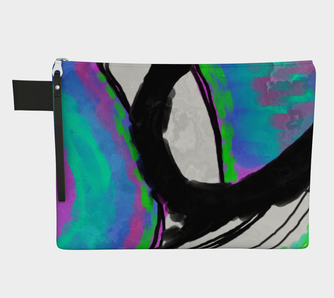 Aperçu de Colorful Abstract Art Clutch Bag #1