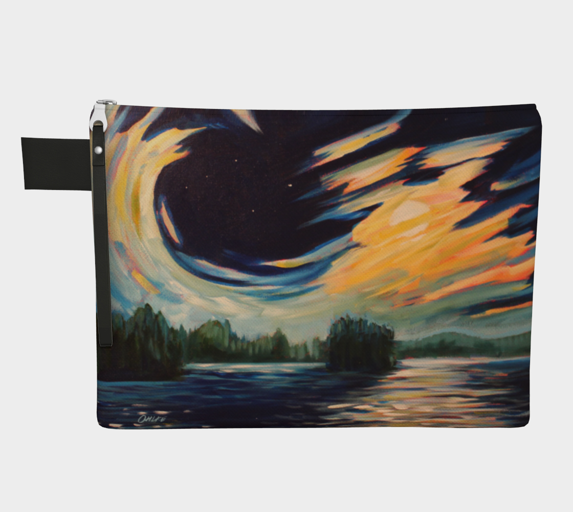 Moon light and clouds pouch preview