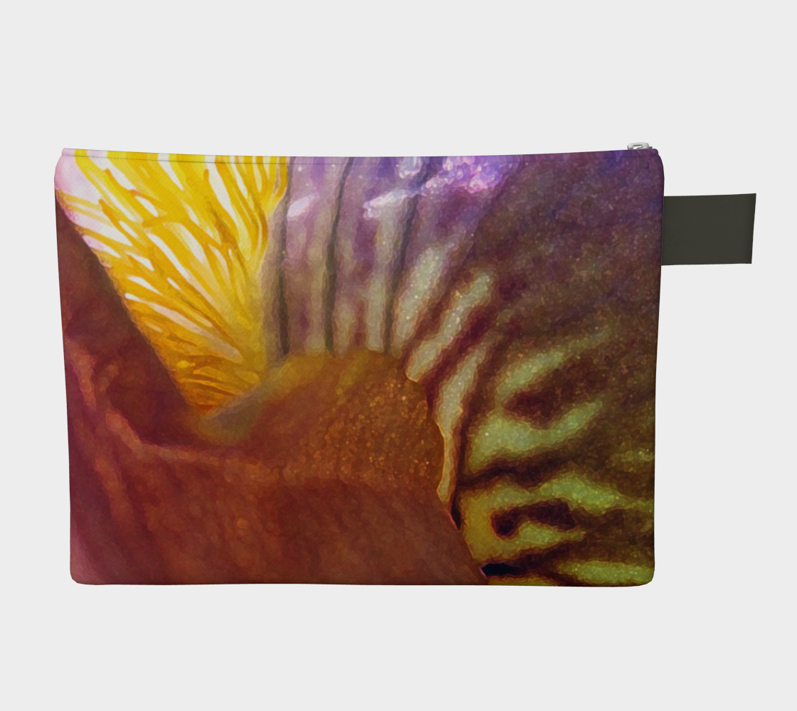 Sunrise Iris Flowerscape 3 Zipper Carry-all preview #2