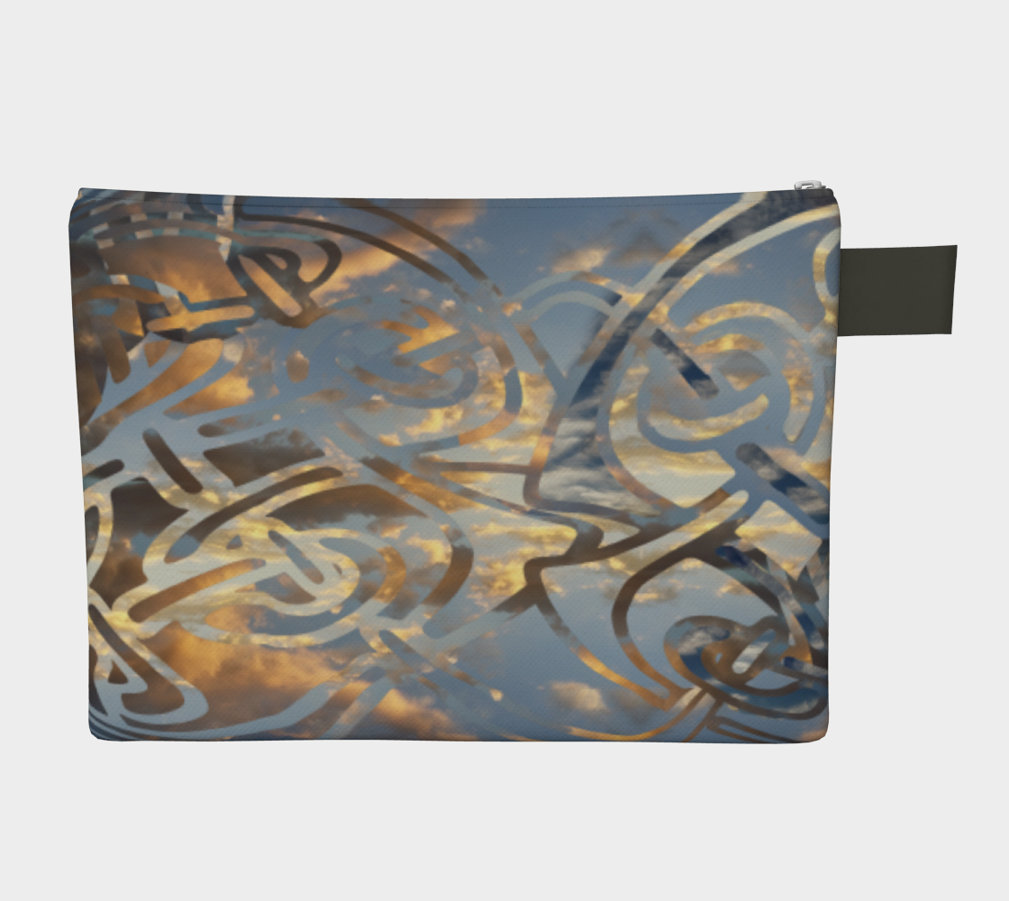 Swirling Celtic Sunset Zipper Carry-all preview #2