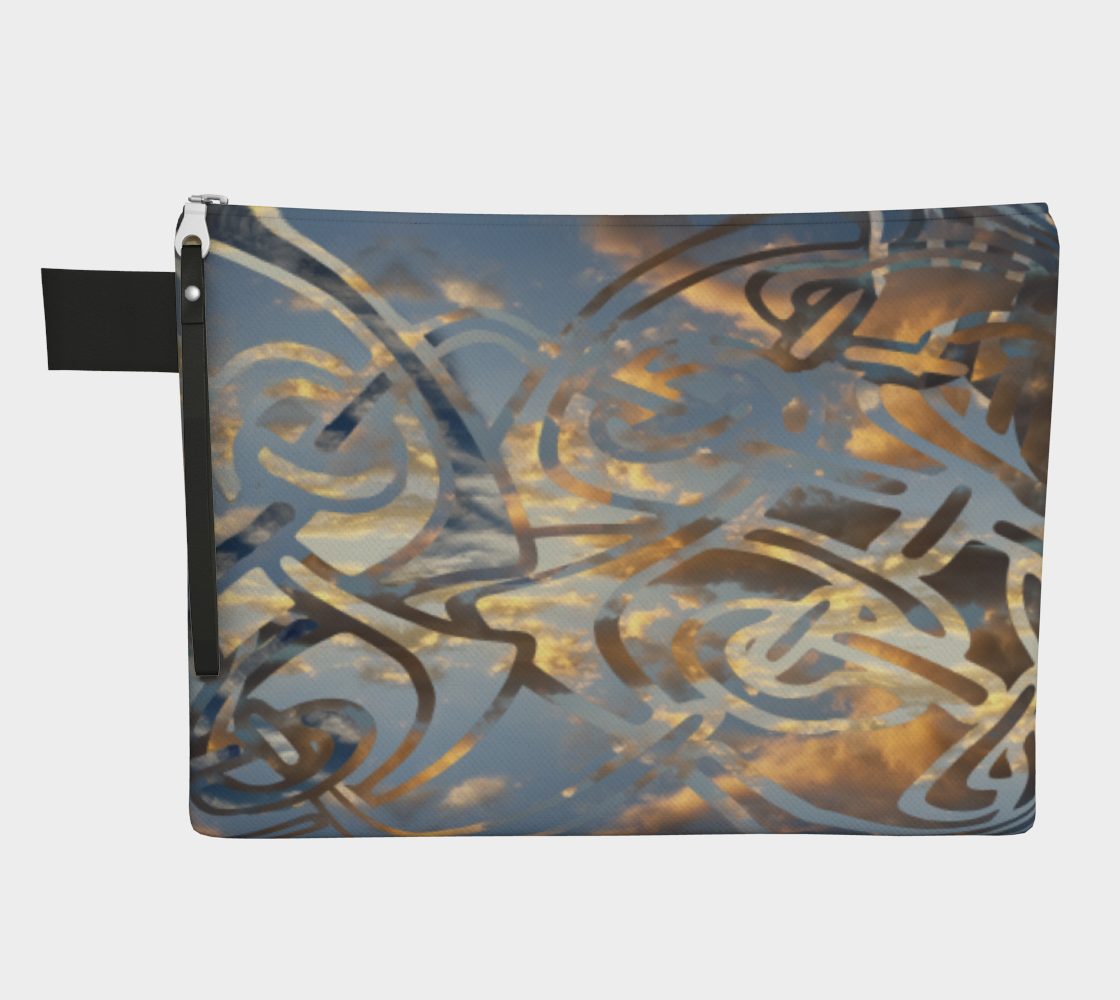 Swirling Celtic Sunset Zipper Carry-all preview