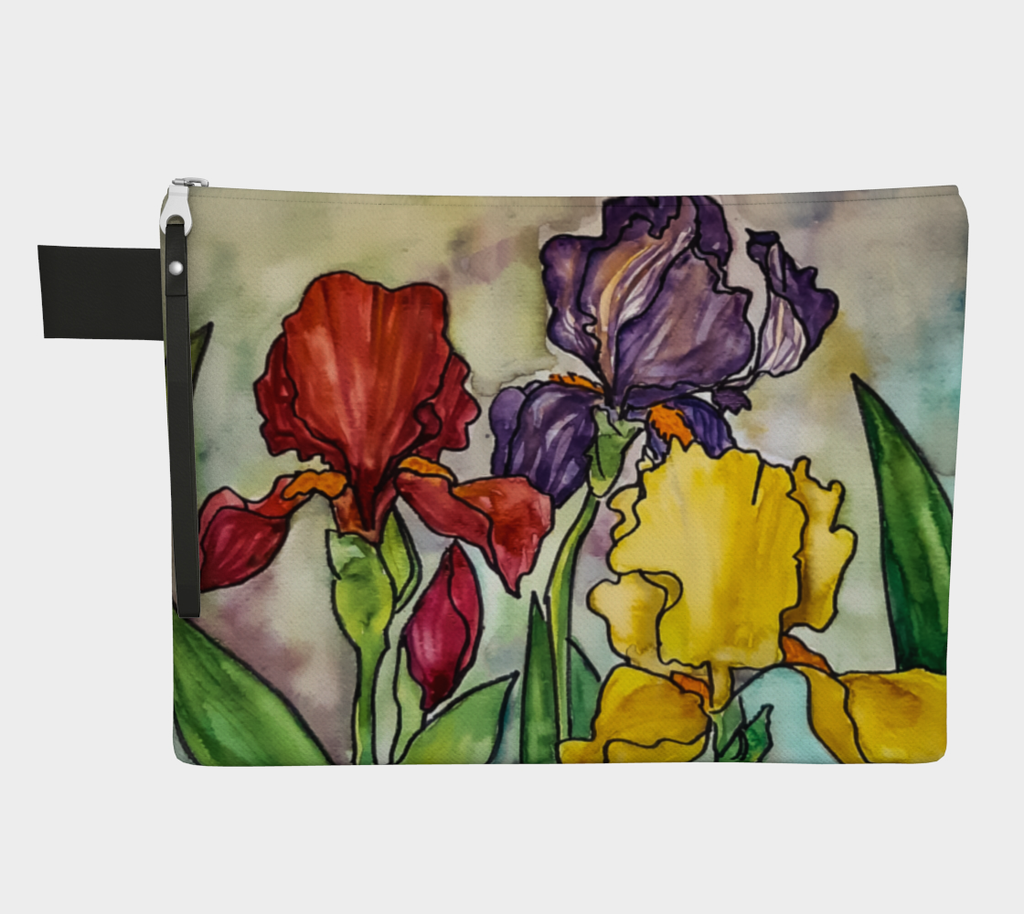 Three Irises Zipper Carry-All preview