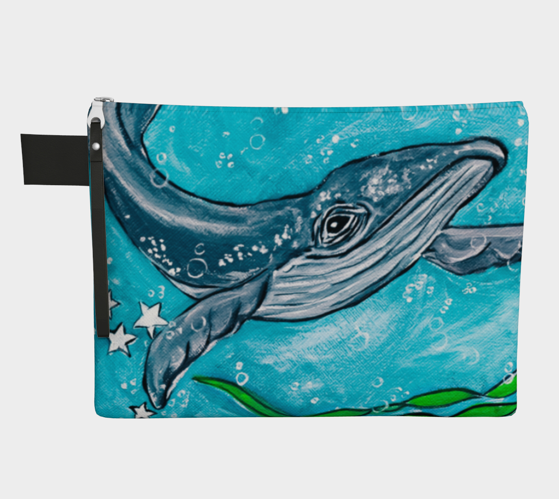Dive Deep Whale Zipper Carry-All preview