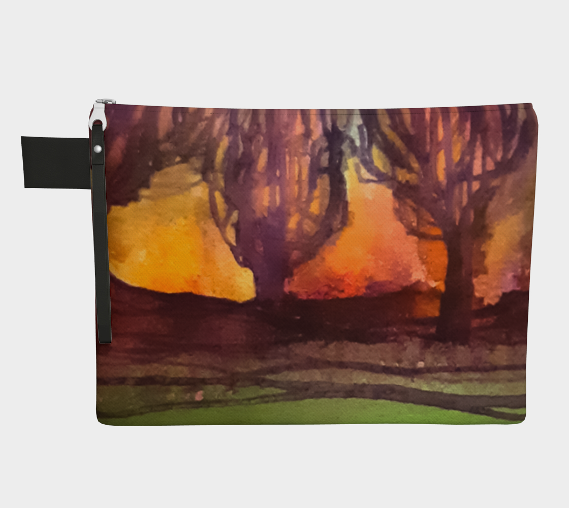 Landscape Trees Zipper Carry-All preview