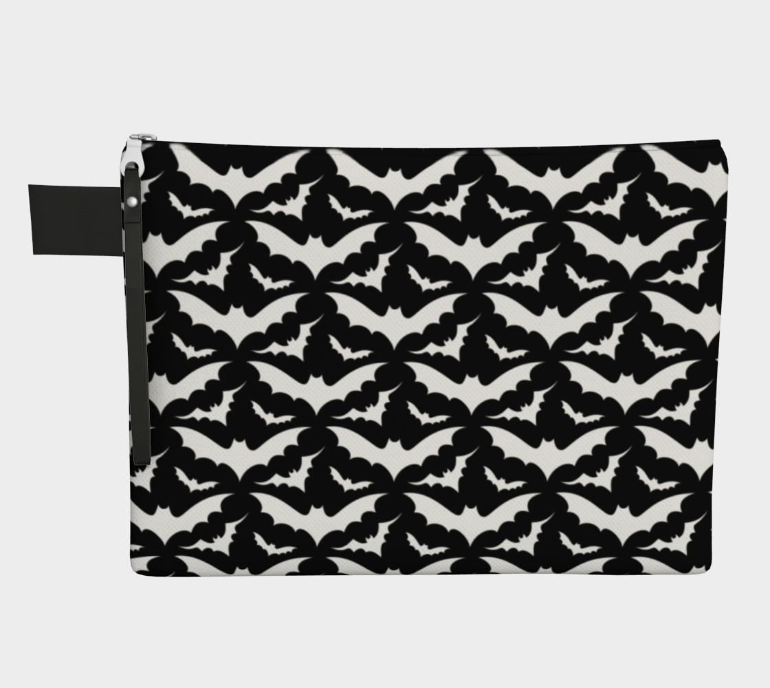 Black and White Bats Zip Bag preview