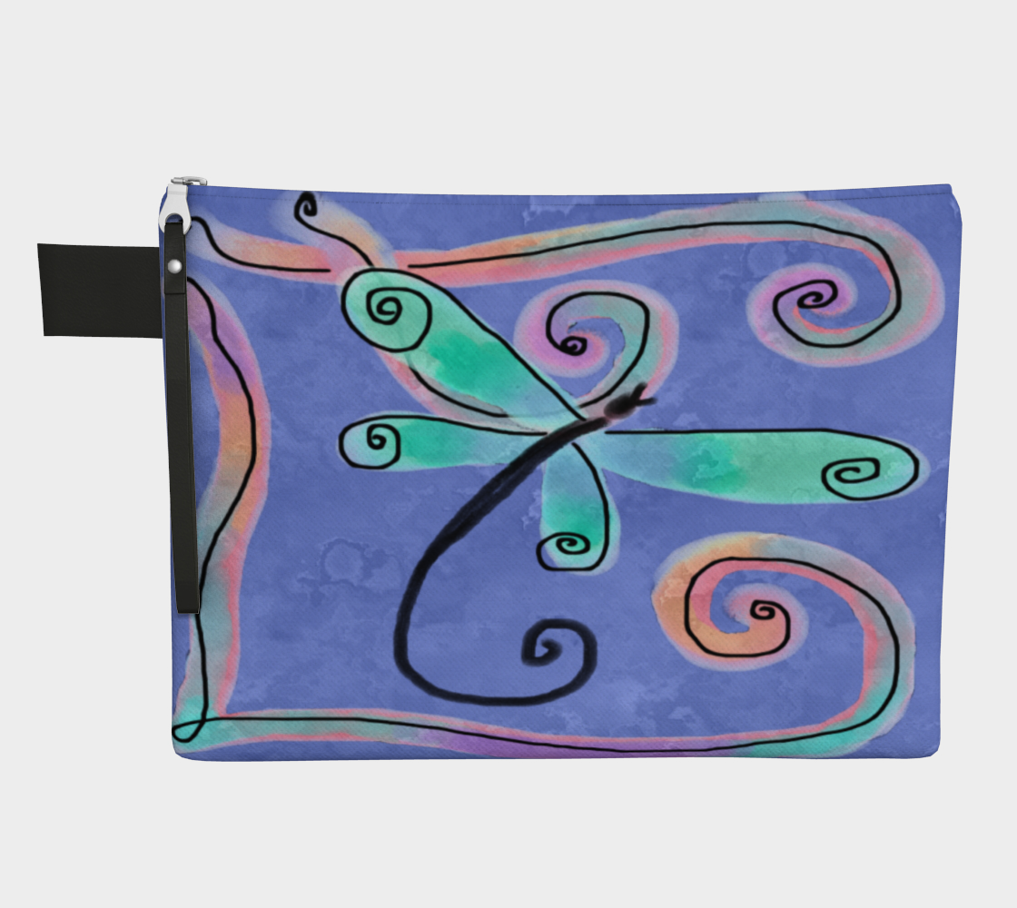 Colorful Abstract Dragonfly Clutch Purse preview