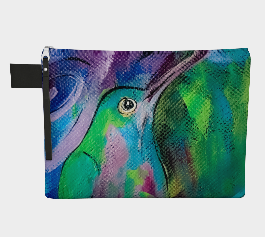 Happy Hummer Zippered Carry-All preview