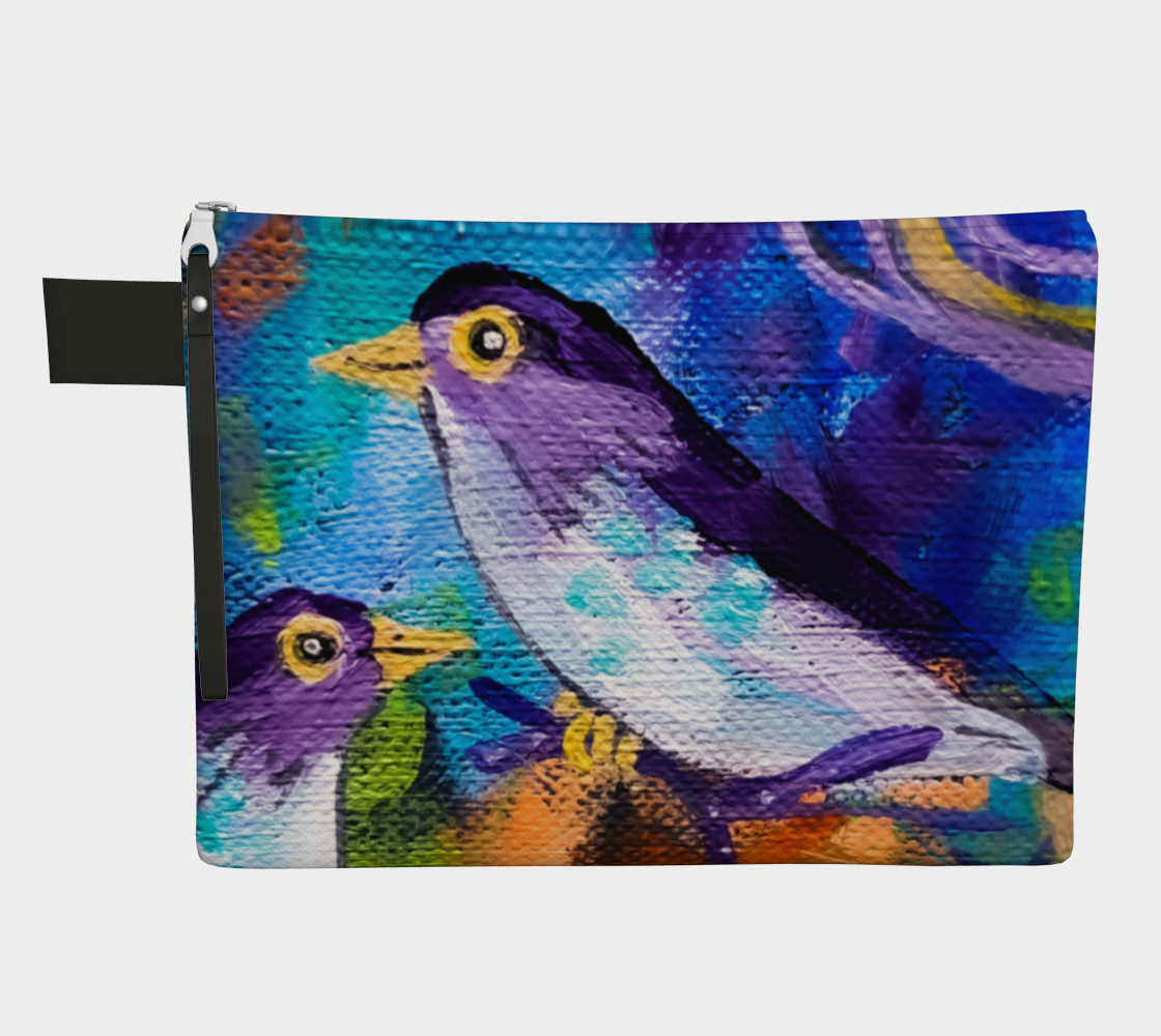 Friendly Feathered Friends Zipper Carry-All preview