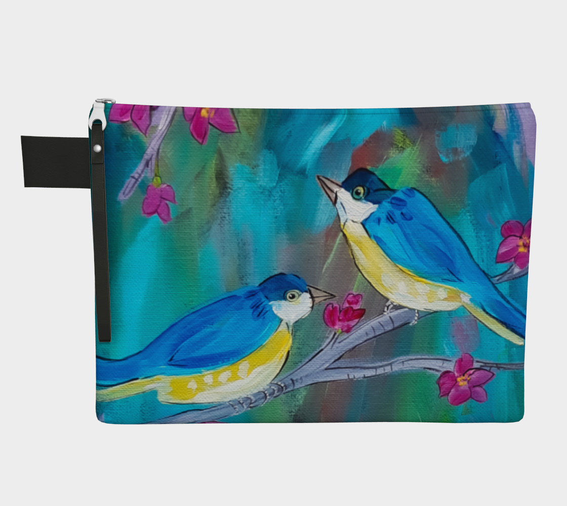 Happy Birds Zipper Carry-All preview