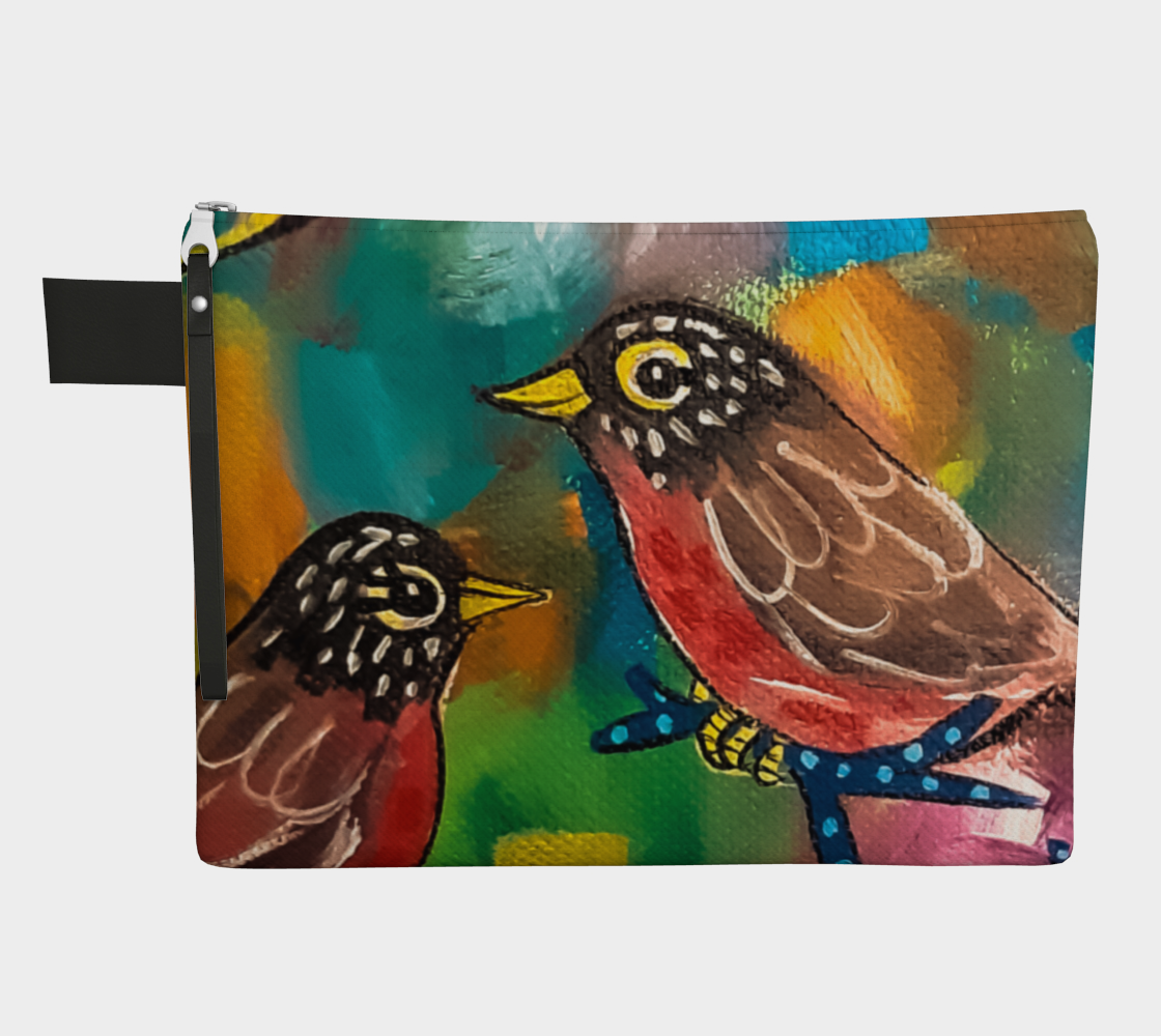 Colorful Robins Zipper Carry-All preview