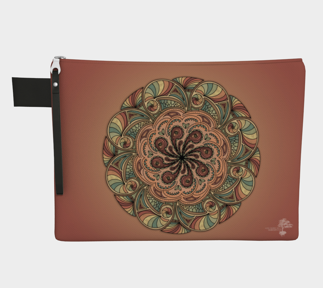 Moroccan Shells Mandala - Zipper Bag preview