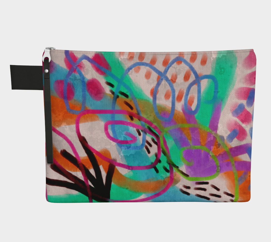It's a Party Abstract Art Clutch Bag Purse preview