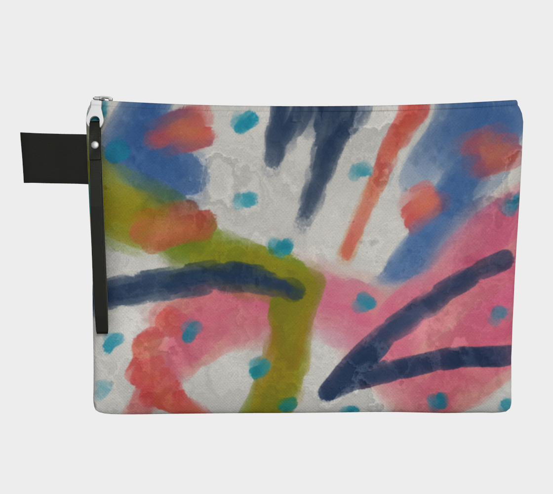 Funky Abstract Art Wristlet Clutch Purse  preview