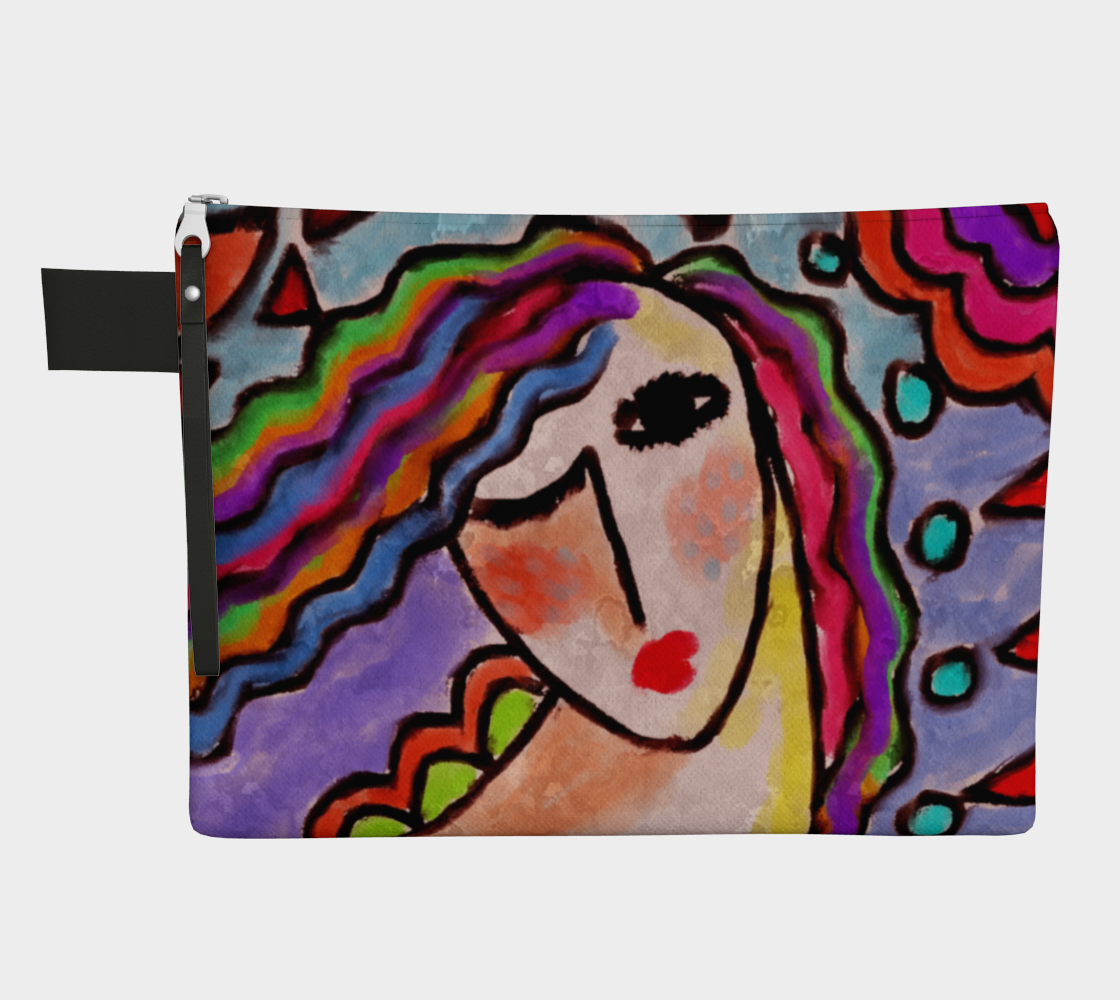 Colorful Abstract Portrait of a Woman Clutch Bag preview