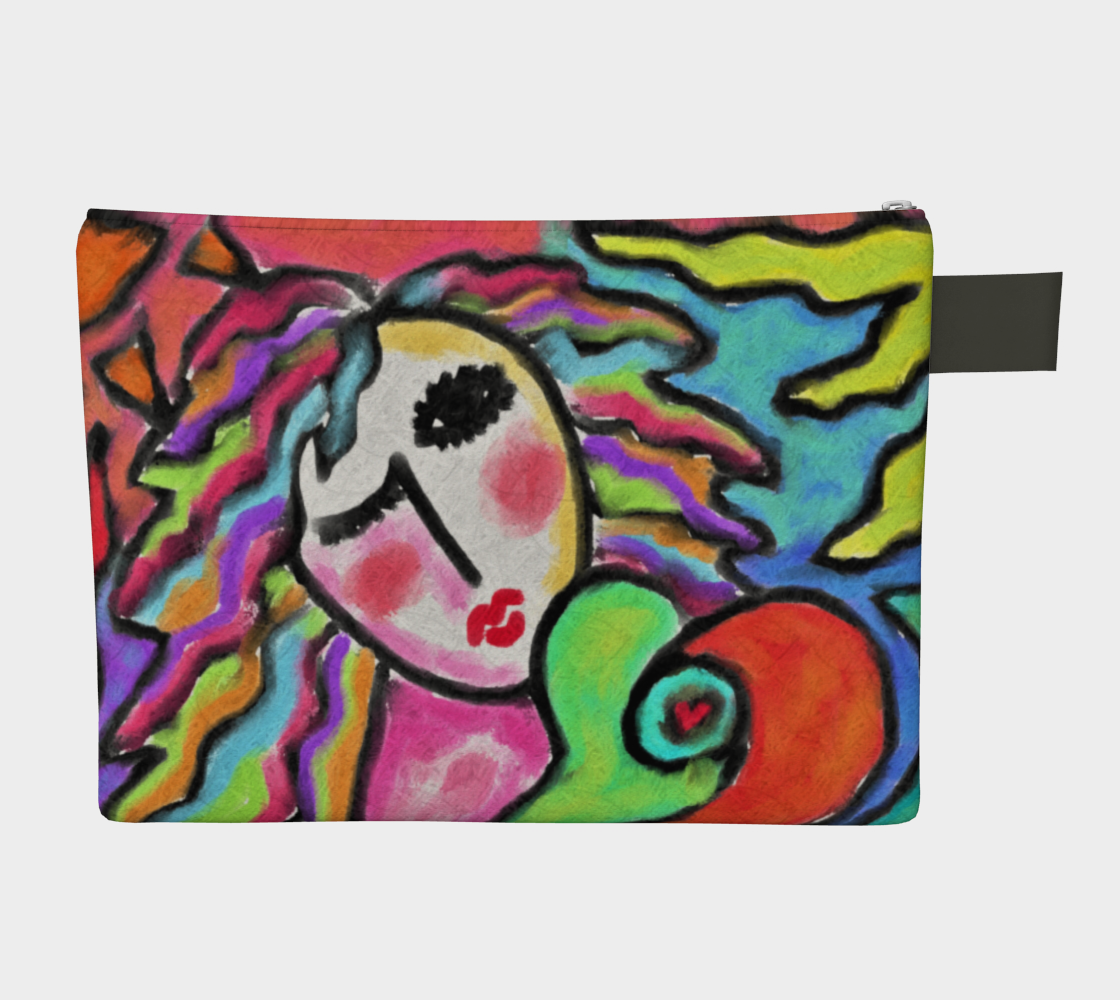Wild One Abstract Portrait of a Woman Clutch Bag Miniature #3