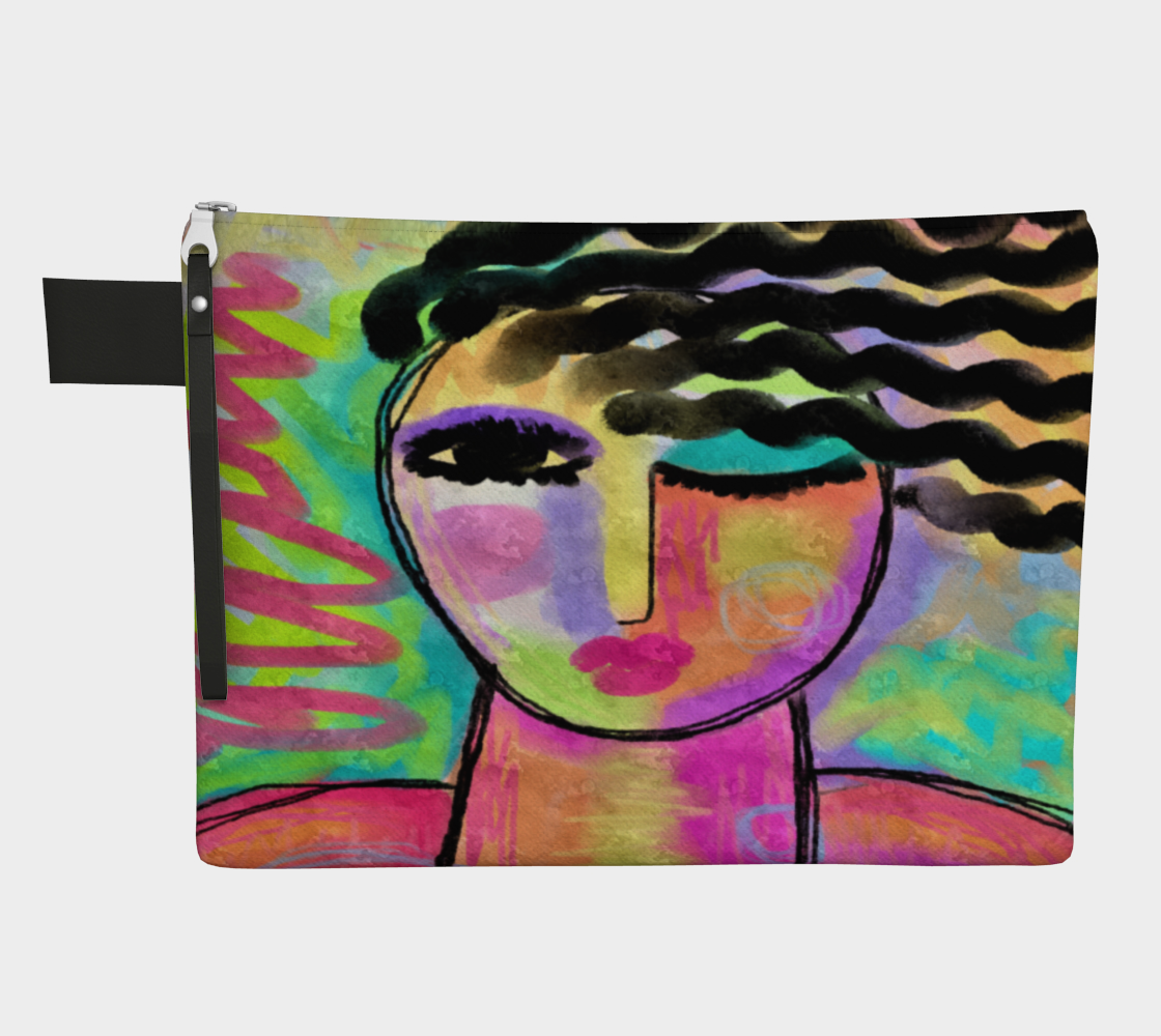 Flirt Abstract Portrait of a Woman Clutch Bag preview