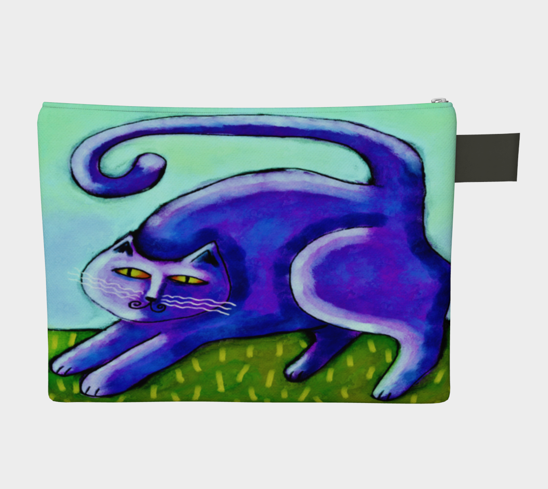 Abstract Purple Cat Clutch Bag preview #2