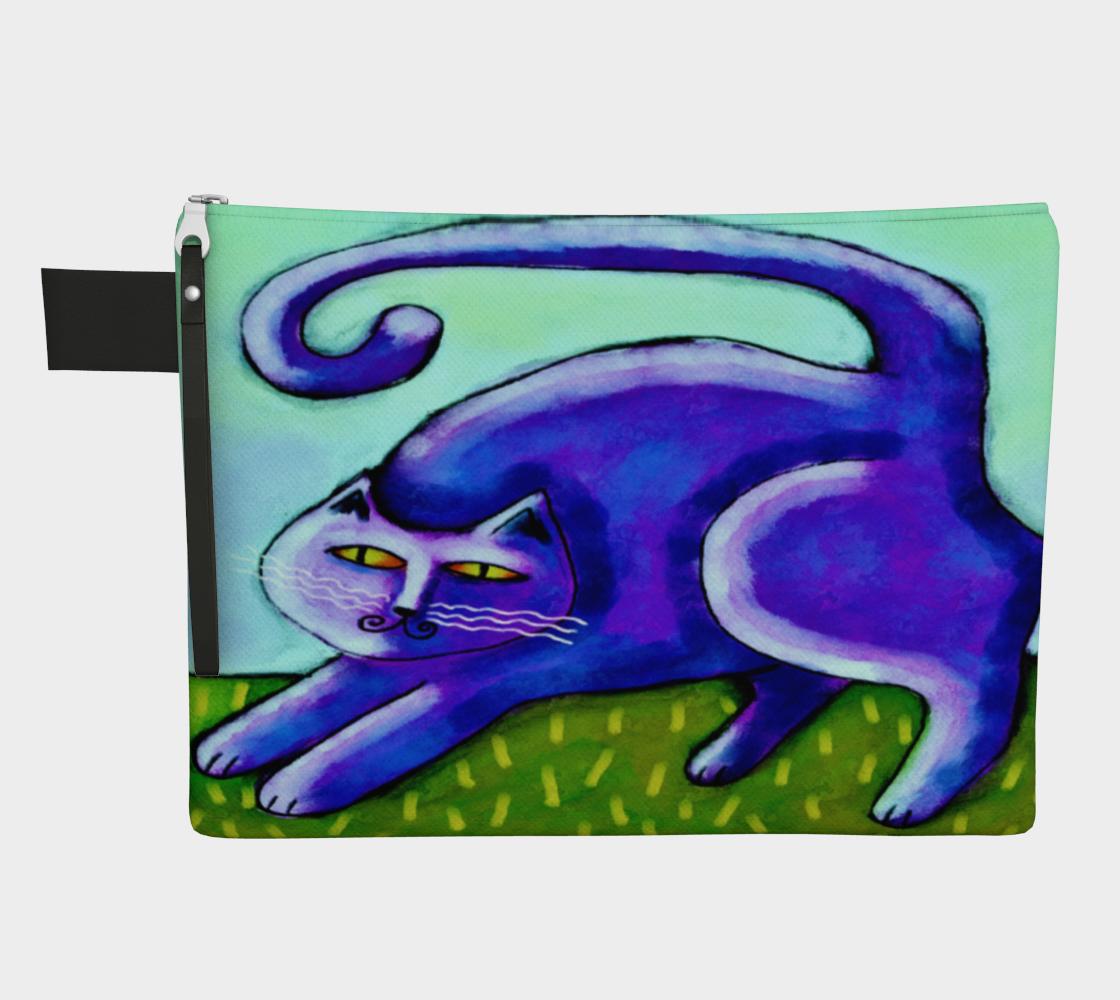 Aperçu de Abstract Purple Cat Clutch Bag