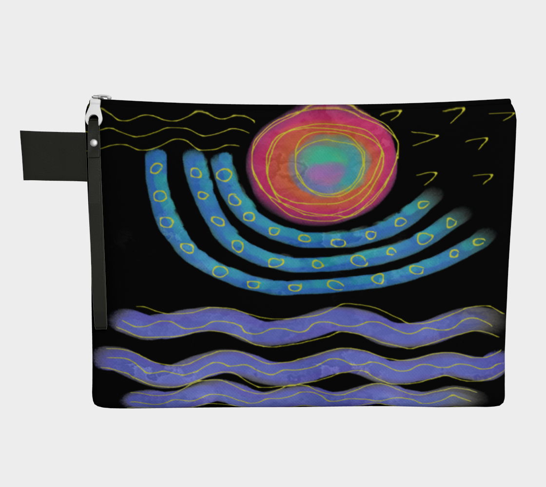 Aperçu de Colorful Abstract Sun Digital Print Clutch Purse #1