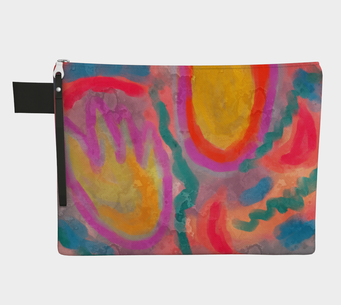Spring Colorful Abstract Digital Painting Clutch Bag preview