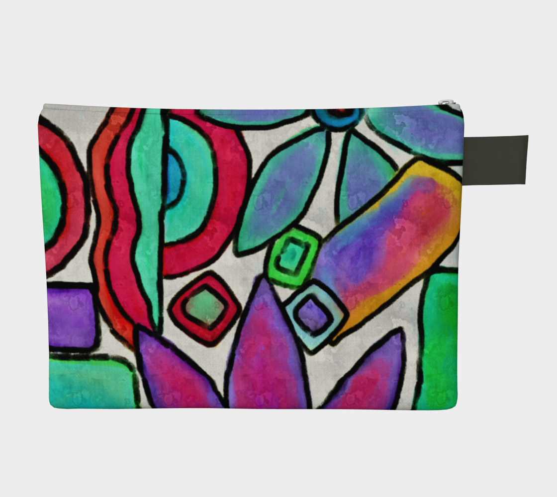 Funky Garden Abstract Digital Print Clutch Bag preview #2