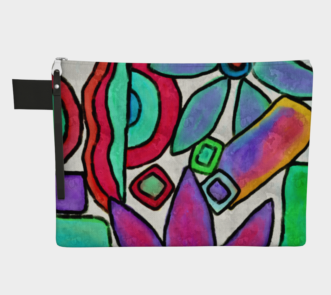 Funky Garden Abstract Digital Print Clutch Bag preview