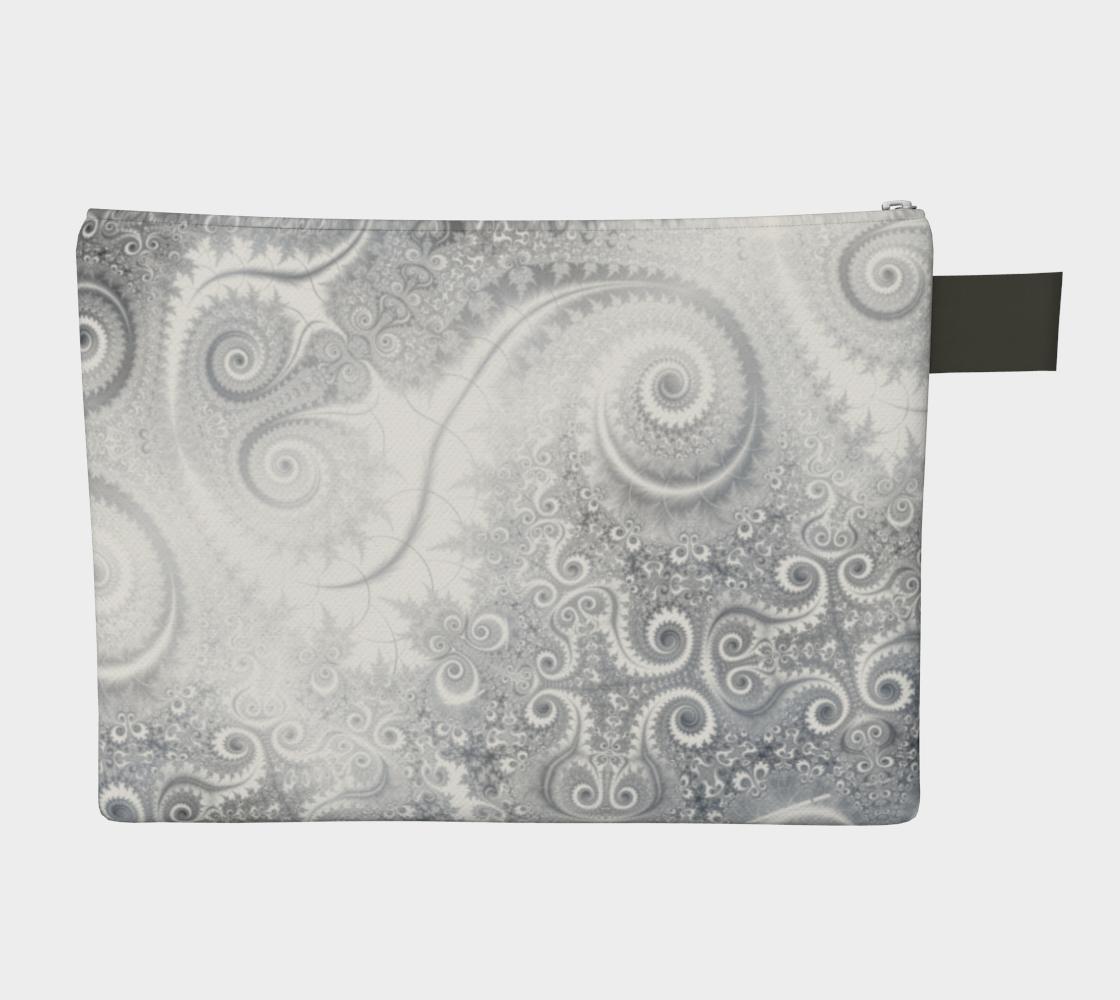 White Grey Fractal Swirls preview #2