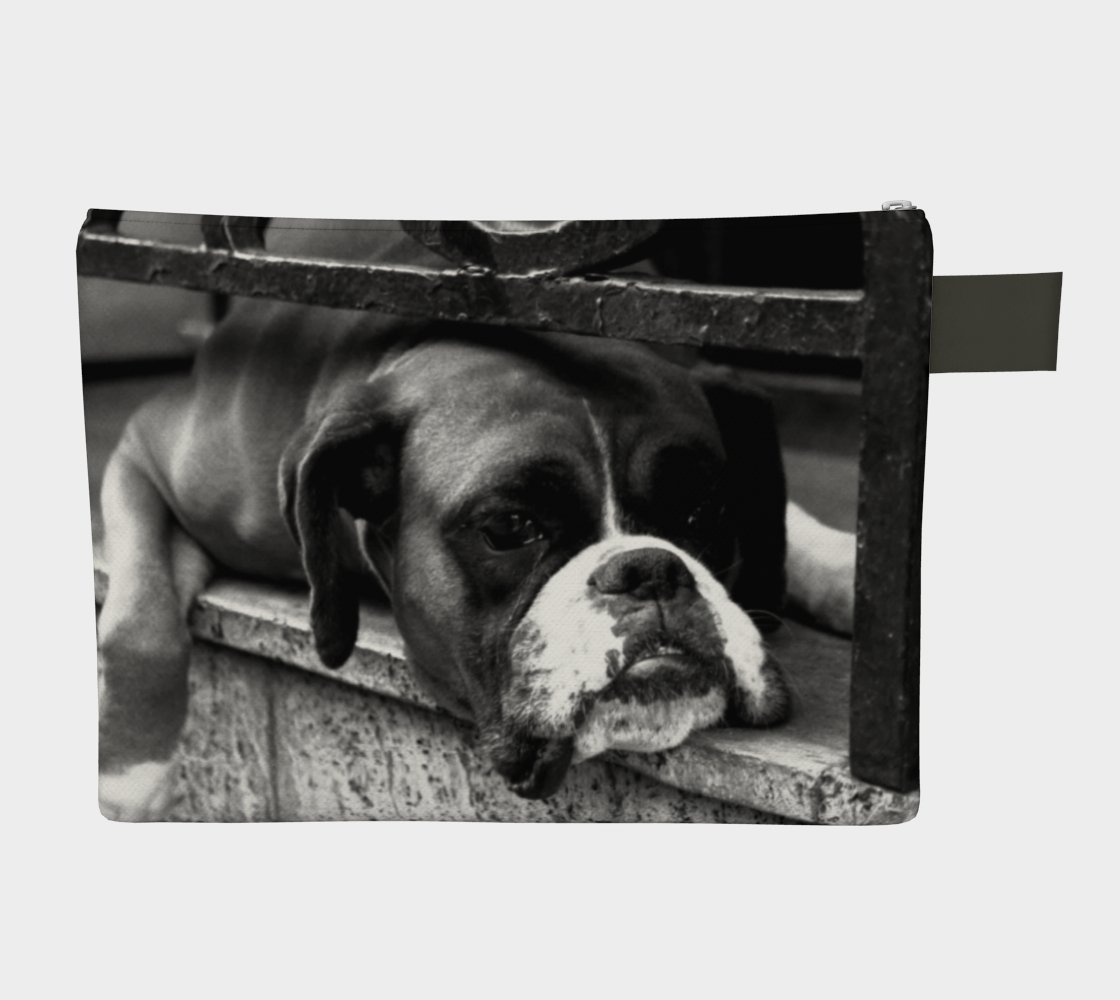 Boxer Dog On Windowsill Zipper Carry All preview #2