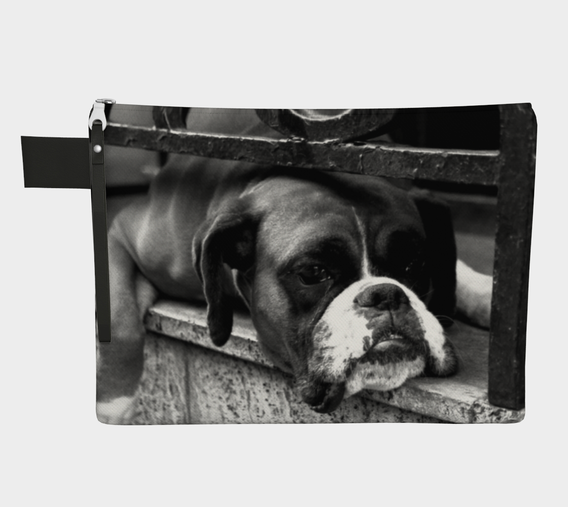 Boxer Dog On Windowsill Zipper Carry All preview