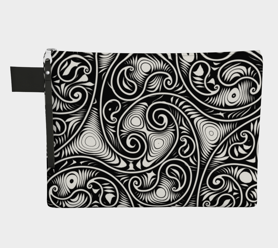 Paisley Inspired Black and White Swirls and Spirals Pattern preview