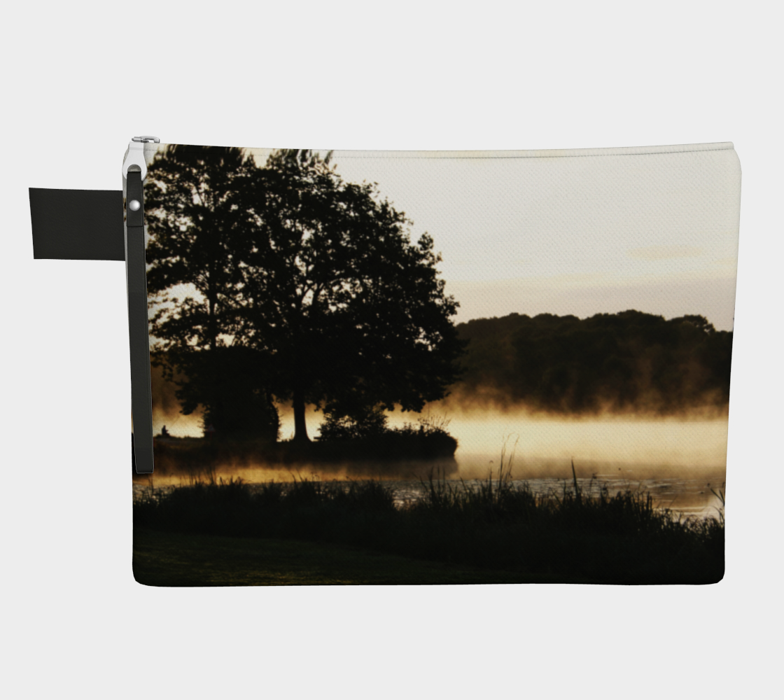 Morning Lake Scene Zipper Carry All preview