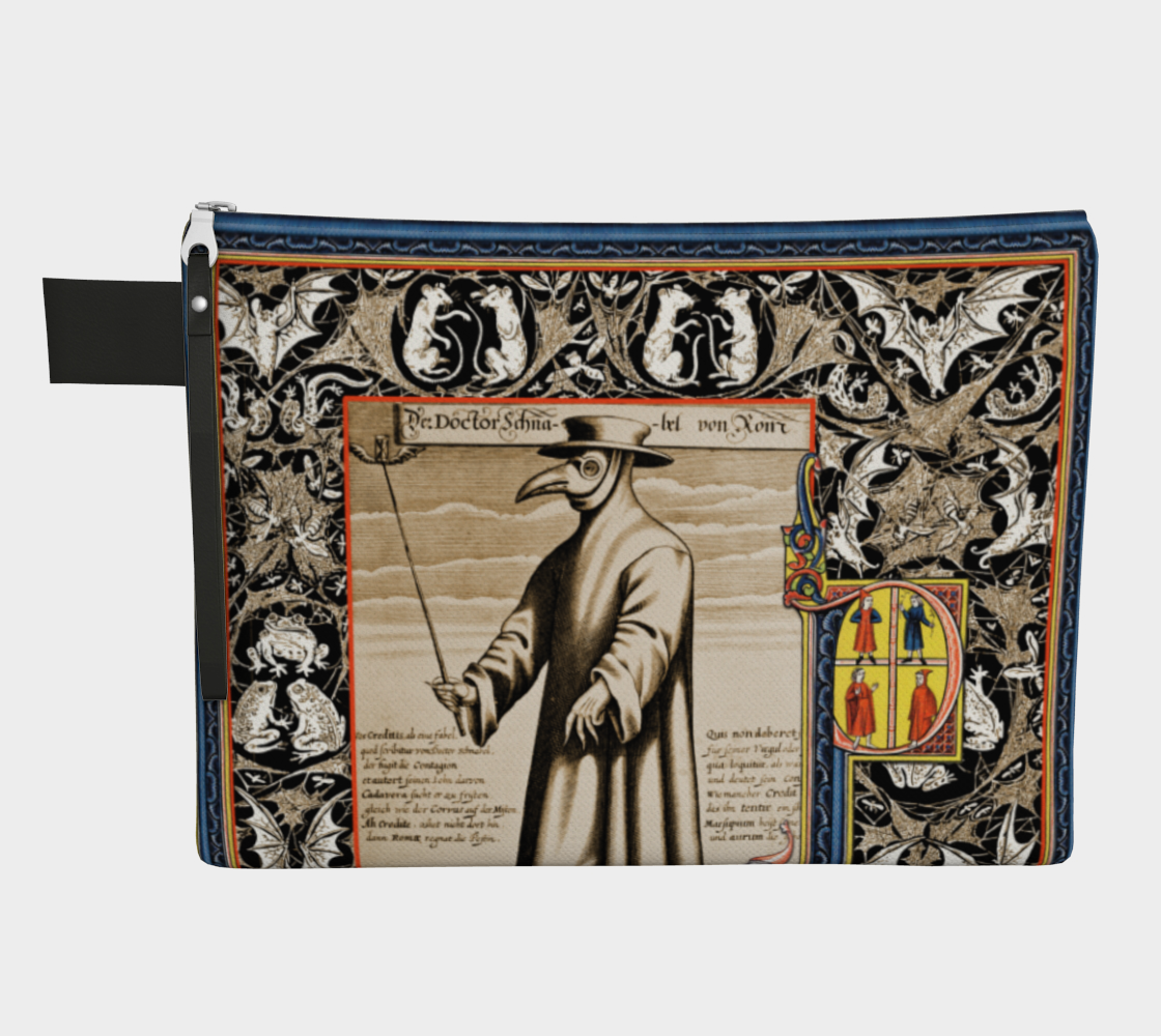 P is for Plague Doctor Zipper Bag preview
