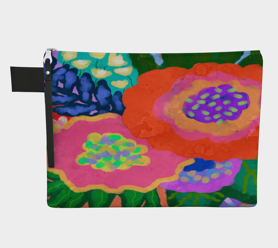 Bloom Abstract Art Clutch Bag preview