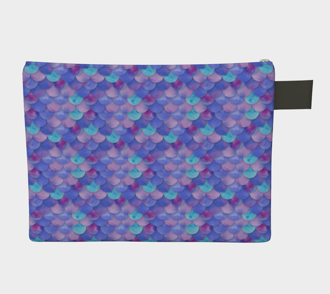 Purple Mermaid  Zipper Pouch preview #2