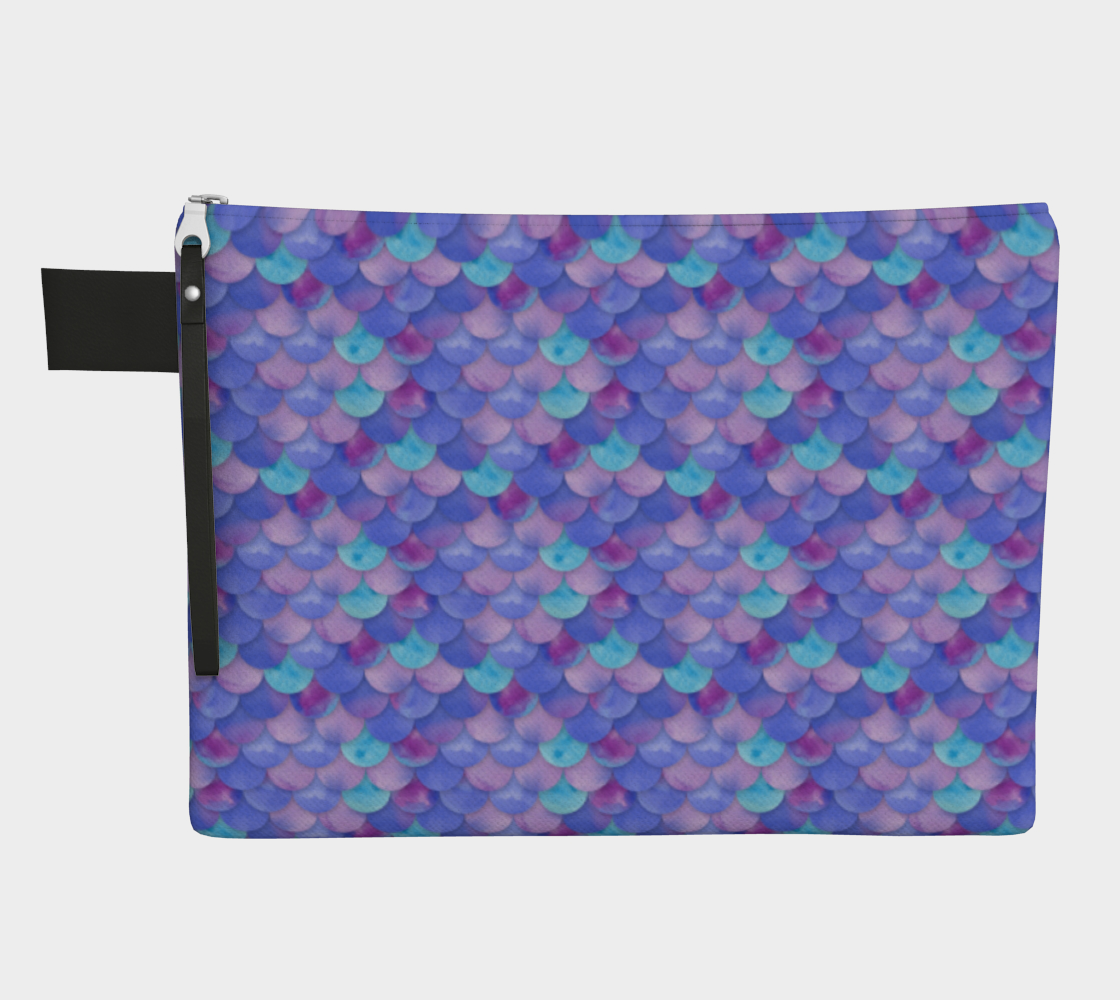 Purple Mermaid  Zipper Pouch preview #1