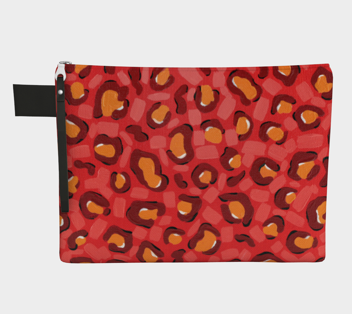 Spicy Leopard (Painting) Zipper Carry-All preview