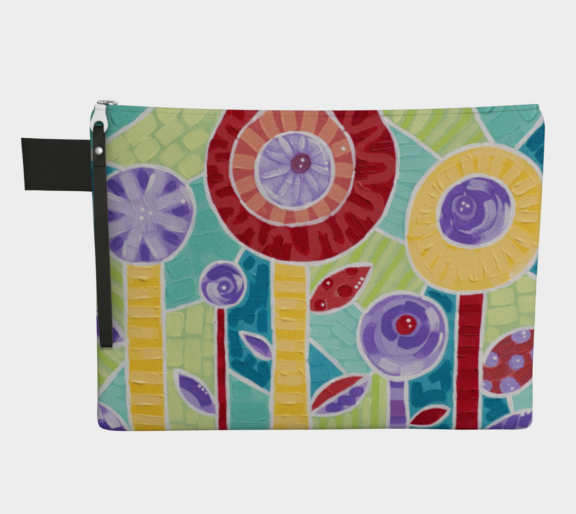 Glass Poppies (Painting) Zipper Carry-All preview