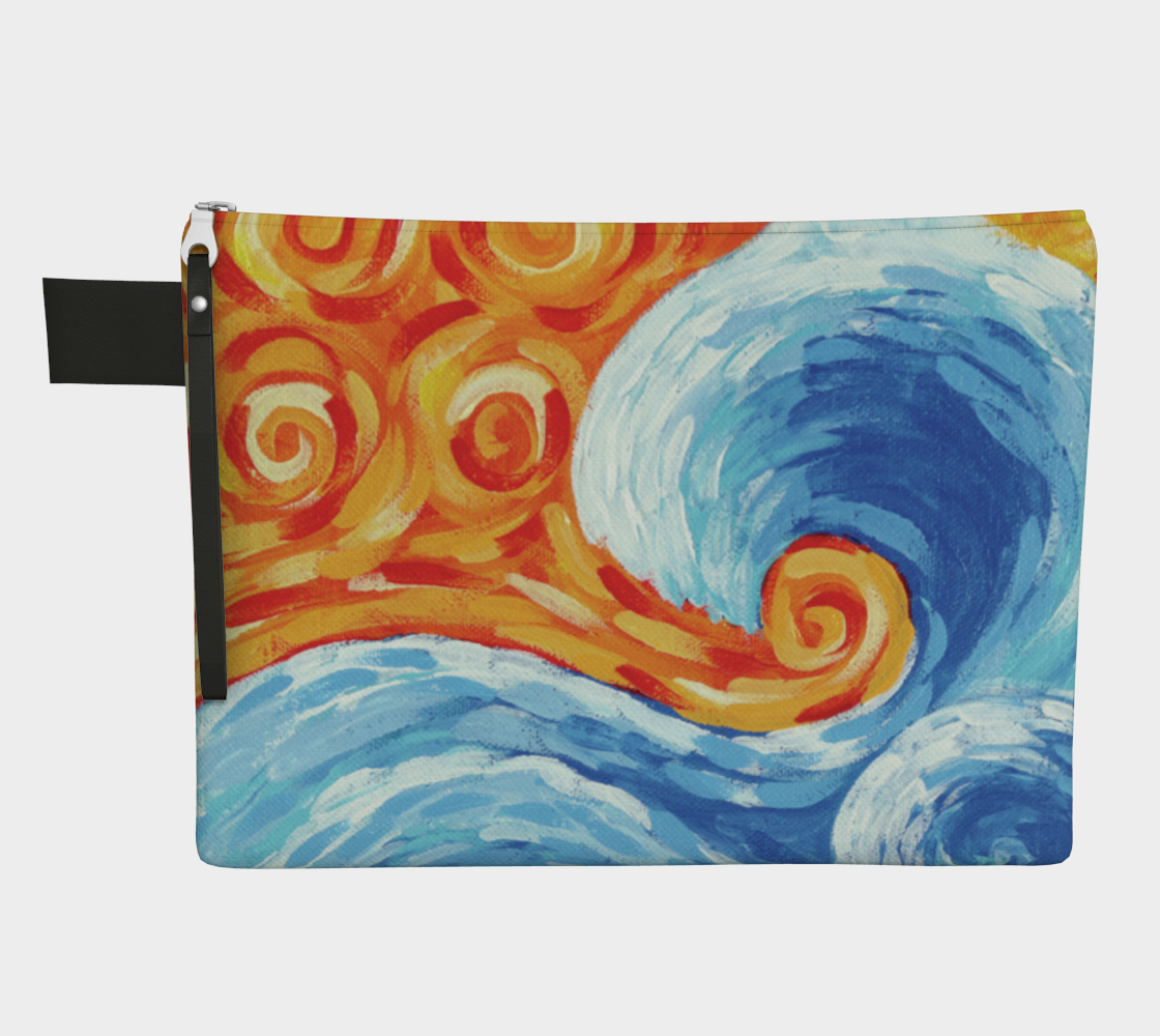 Wave (Painting) Zipper Carry-All preview
