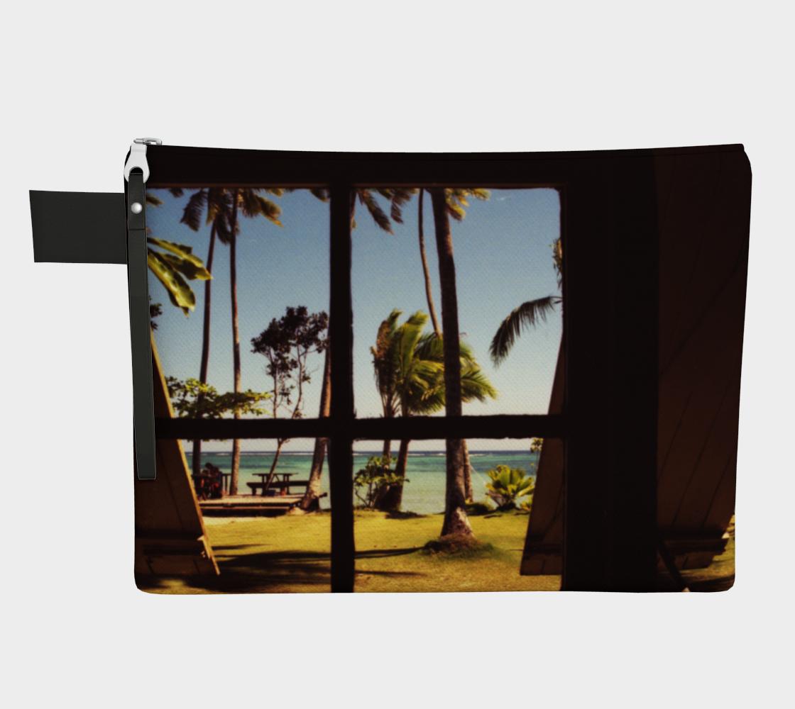 Tropical Fiji Beach Scene Zipper Carry All preview