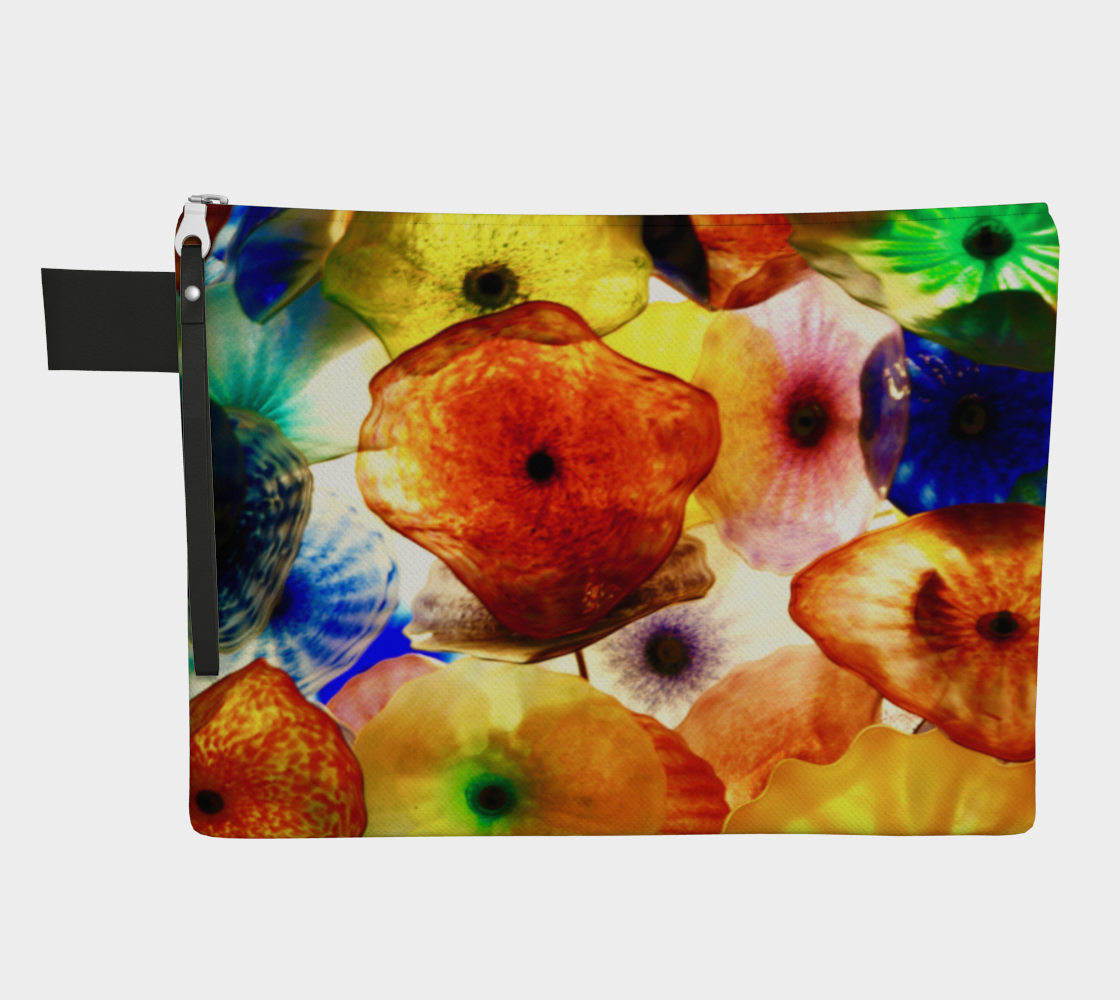 Fragile Flowers Zipper Carry-All preview