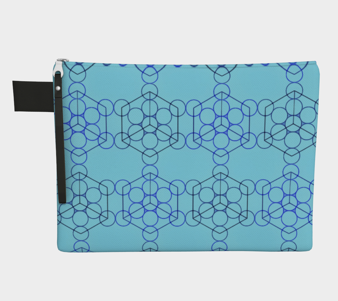 Geometric Tiling Blue Zipper Carry-All preview
