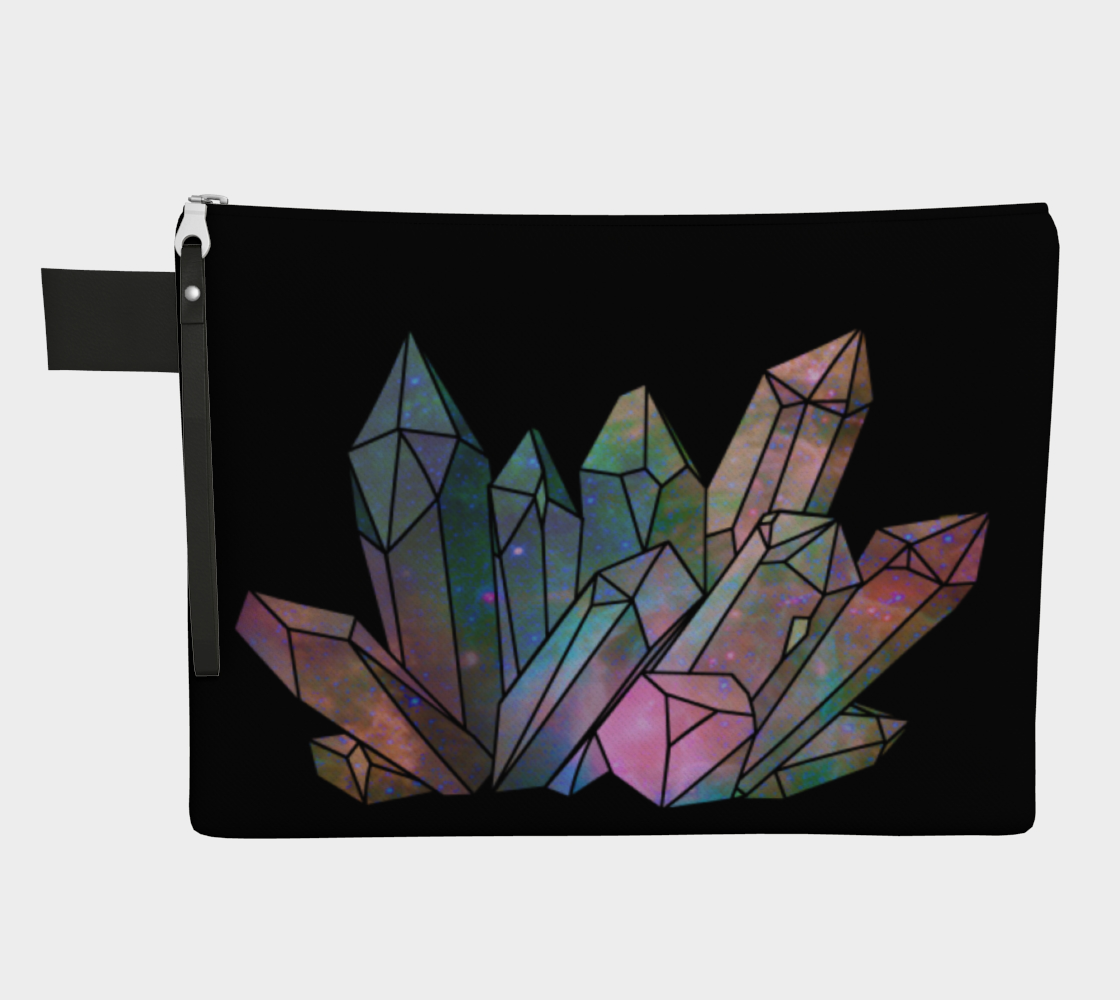 Cosmic Crystals Unicorn Rainbow Aura Zippered Carry All  AOW preview